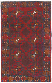 Belouch Alfombra 81X132 Oriental Hecha A Mano Rojo Oscuro/Marrón (Lana, Afganistán)