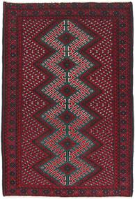 Beluch Matto 86X138 Itämainen Käsinsolmittu Tummanpunainen/Tummanruskea (Villa, Afganistan)