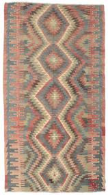 Kelim Semi Antický Turecko Koberec 170X318 Orientální Ruční Tkaní Světle Hnědá/Tmavošedý (Vlna, Turecko)