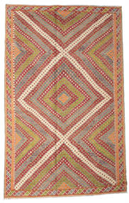 Kilim Semi Antique Turkish Rug 208X330 Authentic  Oriental Handwoven Light Brown/Rust Red (Wool, Turkey)