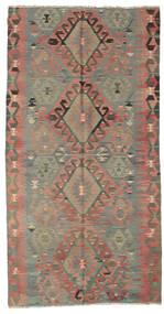 Kelim Halbantik Türkei Teppich  148X287 Echter Orientalischer Handgewebter Hellbraun/Braun (Wolle, Türkei)