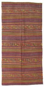 Kilim Pół -Antyk Tureckie Dywan 137X279 Orientalny Tkany Ręcznie Brązowy/Ciemnoczerwony (Wełna, Turcja)