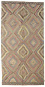 Kilim Semi Antique Turkish Rug 170X335 Authentic  Oriental Handwoven Light Brown/Olive Green (Wool, Turkey)