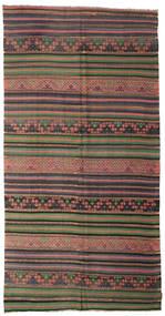 Kelim Semi-Antiek Turkije Vloerkleed 176X345 Echt Oosters Handgeweven Donkergrijs/Lichtbruin (Wol, Turkije)