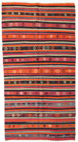 Kilim Semi Antique Turkish Rug 162X300 Authentic  Oriental Handwoven Dark Brown/Orange (Wool, Turkey)