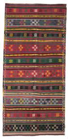 Kilim Semiantigua Turquía Alfombra 156X331 Oriental Tejida A Mano Gris Oscuro/Roja (Lana, Turquía)