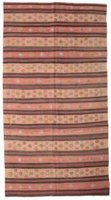 Kelim Semiantiikki Turkki Matto 187X350 Itämainen Käsinkudottu Vaaleanruskea/Ruskea (Villa, Turkki)