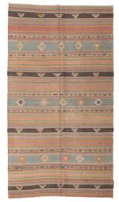 Kelim Halvt Antikke Tyrkiske Teppe 155X283 Ekte Orientalsk Håndvevd Lysbrun/Brun (Ull, Tyrkia)