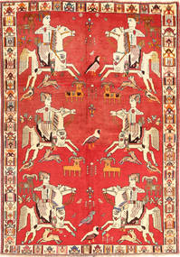 Qashqai Rug 156X230 Authentic  Oriental Handknotted Orange/Rust Red (Wool, Persia/Iran)