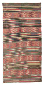 Kelim Halvt Antikke Tyrkiske Teppe 144X293 Ekte Orientalsk Håndvevd Lysbrun/Rust (Ull, Tyrkia)