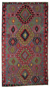 Kilim Semi Antique Turkish Rug 186X336 Authentic  Oriental Handwoven Dark Red/Crimson Red (Wool, Turkey)