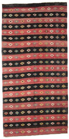 Kilim Semi Antique Turkish Rug 176X355 Authentic  Oriental Handwoven Dark Brown/Dark Red (Wool, Turkey)