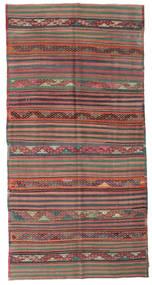 キリム セミアンティーク トルコ 絨毯 159X316 オリエンタル 手織り 濃いグレー/茶 (ウール, トルコ)