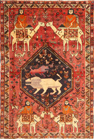 Qashqai Rug 175X263 Authentic  Oriental Handknotted Rust Red/Orange (Wool, Persia/Iran)