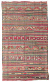 Kilim Semi Antique Turkish Rug 158X270 Authentic  Oriental Handwoven Light Brown/Rust Red (Wool, Turkey)