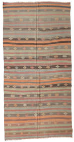 Kilim Semi Antique Turkish Rug 166X333 Authentic  Oriental Handwoven Light Brown/Brown/Light Grey (Wool, Turkey)