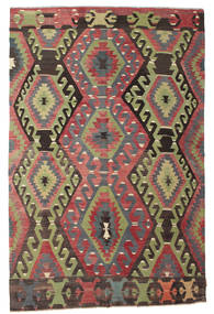 Kilim Semi Antique Turkish Rug 187X283 Authentic  Oriental Handwoven Dark Grey/Dark Red (Wool, Turkey)