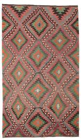 Kilim Semi Antique Turkish Rug 171X293 Authentic  Oriental Handwoven Rust Red/Dark Grey (Wool, Turkey)