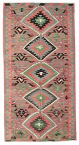 Kelim Semiantik Tyrkiet Tæppe 163X318 Ægte Orientalsk Håndvævet Mørk Beige/Mørkegrå (Uld, Tyrkiet)