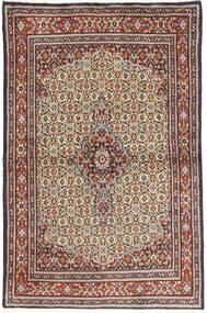 Moud Teppe 96X150 Ekte Orientalsk Håndknyttet Lysbrun/Mørk Blå (Ull/Silke, Persia/Iran)
