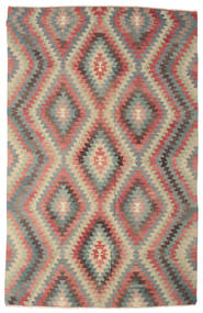 Kilim Semi Antique Turkish Rug 198X313 Authentic  Oriental Handwoven Light Brown/Dark Grey (Wool, Turkey)