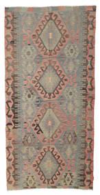 Kilim Semi Antique Turkish Rug 150X314 Authentic  Oriental Handwoven Light Brown/Olive Green (Wool, Turkey)