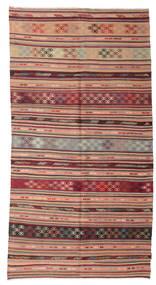 Kelim Semiantiikki Turkki Matto 153X289 Itämainen Käsinkudottu Vaaleanruskea/Ruskea (Villa, Turkki)