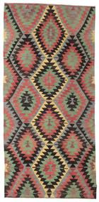 キリム セミアンティーク トルコ 絨毯 162X347 オリエンタル 手織り 錆色/黒 (ウール, トルコ)