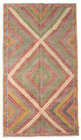 Kelim Halbantik Türkei Teppich  189X333 Echter Orientalischer Handgewebter Hellbraun/Braun (Wolle, Türkei)