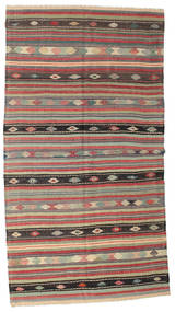 Kilim Semi Antique Turkish Rug 168X314 Authentic  Oriental Handwoven Dark Brown/Brown (Wool, Turkey)