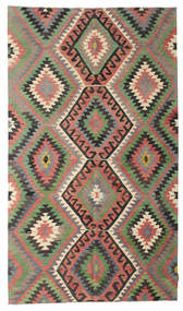 Kelim Semiantiikki Turkki Matto 174X302 Itämainen Käsinkudottu Tummanharmaa/Oliivinvihreä (Villa, Turkki)