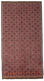 Kelim Semiantik Turkisk Matta 178X335 Äkta Orientalisk Handvävd Mörkröd/Rosa (Ull, Turkiet)