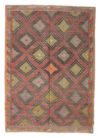 Kilim Semi Antique Turkish Rug 198X281 Authentic  Oriental Handwoven Light Brown/Brown (Wool, Turkey)