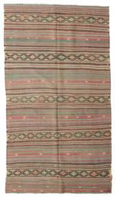 Kilim Pół -Antyk Tureckie Dywan 153X272 Orientalny Tkany Ręcznie Jasnobrązowy/Zielony/Oliwkowy (Wełna, Turcja)
