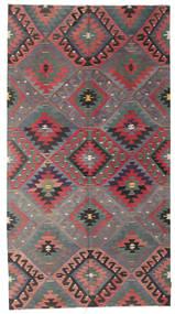 Kilim Semi Antique Turkish Rug 184X344 Authentic  Oriental Handwoven Dark Red/Dark Grey (Wool, Turkey)