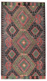 Kelim Semiantiikki Turkki Matto 168X292 Itämainen Käsinkudottu Tummanruskea/Tummanharmaa/Ruoste (Villa, Turkki)