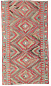 Kilim Semi Antique Turkish Rug 177X320 Authentic  Oriental Handwoven Light Grey/Rust Red/Light Brown (Wool, Turkey)