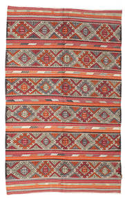 Kilim semi antique Turkish carpet XCGZK38