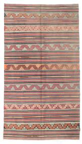 Kilim Semi Antique Turkish Rug 167X295 Authentic Oriental Handwoven Light Brown/Dark Grey (Wool, Turkey)