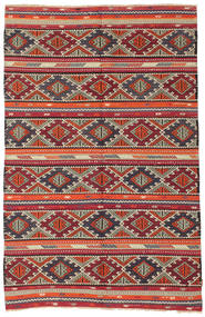 Kilim semi antique Turkish carpet XCGZK28