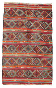 Kilim Félantik Törökország Szőnyeg 190X312 Keleti Kézi Szövésű Sötétpiros/Világosszürke (Gyapjú, Törökország)