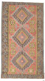 Kelim Semiantik Turkisk Matta 173X305 Äkta Orientalisk Handvävd Brun/Ljusbrun (Ull, Turkiet)