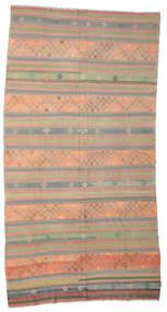Kelim Semiantik Turkisk Matta 192X360 Äkta Orientalisk Handvävd Ljusbrun/Ljusgrå (Ull, Turkiet)