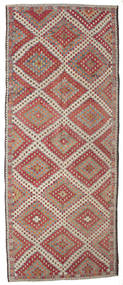 Kelim Semiantik Turkisk Matta 186X458 Äkta Orientalisk Handvävd Hallmatta Ljusbrun/Ljusgrå (Ull, Turkiet)