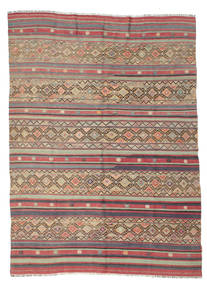 Kilim Semi Antique Turkish Rug 176X240 Authentic  Oriental Handwoven Light Brown/Rust Red (Wool, Turkey)