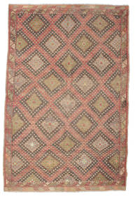 Kilim Semi Antique Turkish Rug 191X293 Authentic  Oriental Handwoven Light Brown/Brown (Wool, Turkey)