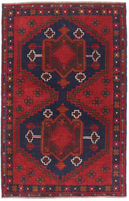 Baluch Rug 84X137 Authentic  Oriental Handknotted Dark Red/Black (Wool, Afghanistan)