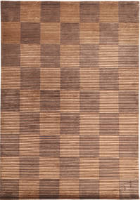 Himalaya Rug 173X248 Authentic  Modern Handknotted Light Brown/Light Pink ( India)