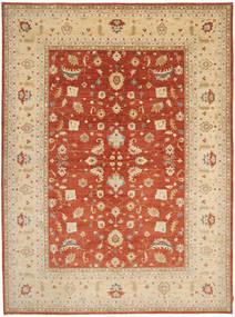 Ziegler Rug 301X406 Authentic  Oriental Handknotted Dark Beige/Light Brown Large (Wool, Pakistan)