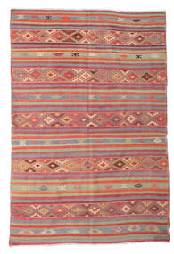 Kilim Semi Antique Turkish Rug 196X292 Authentic  Oriental Handwoven Rust Red/Brown (Wool, Turkey)